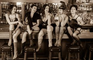 Bourbon and Burlesque w/ Lulu and the Lushes in the Crepe Place garden